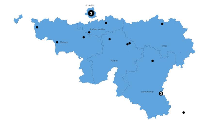 Répartition géographique des participants