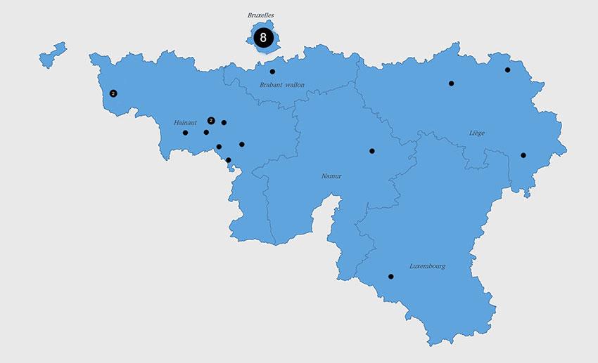Répartition géographique des participants (2018)
